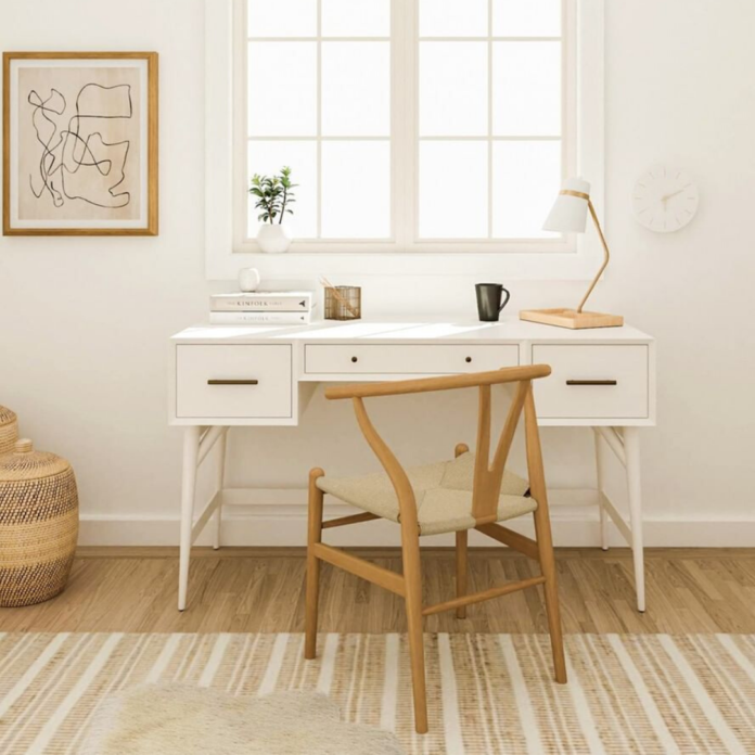 neutral home office space